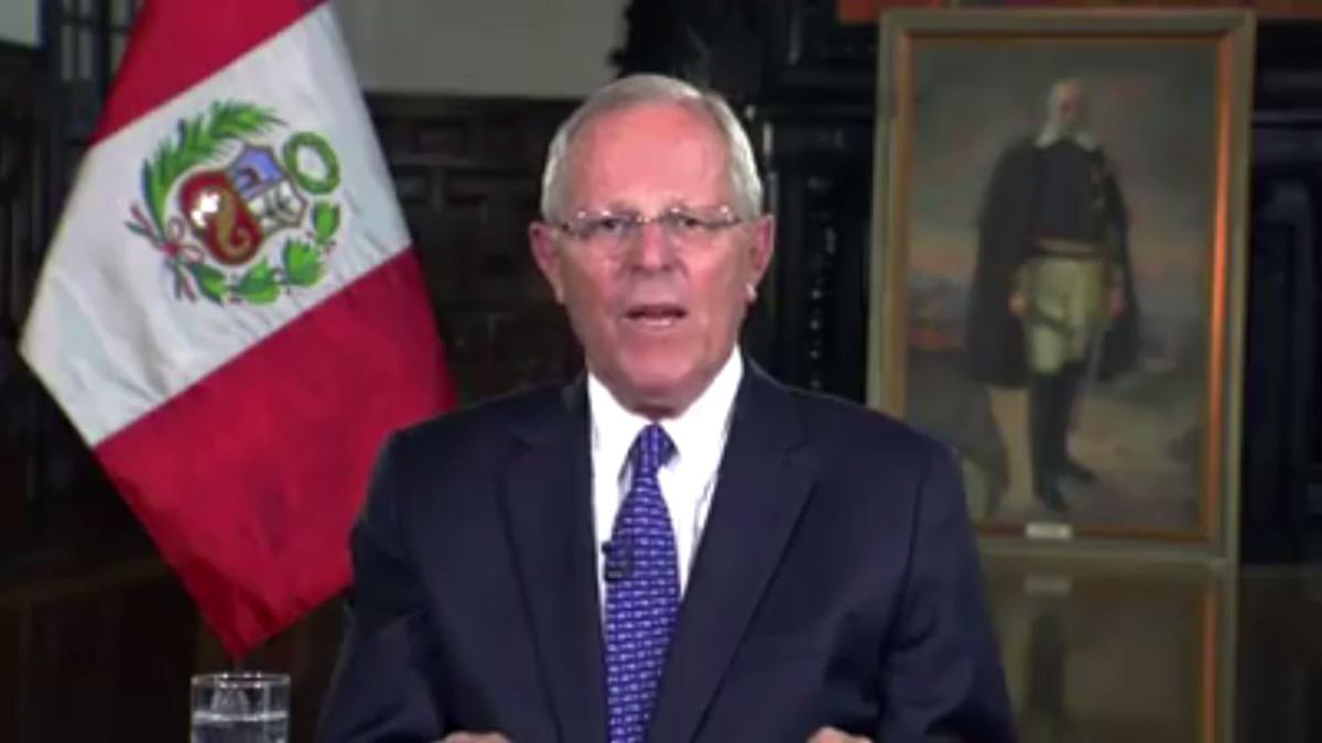 Pedro Pablo Kuczynski agradeció la paciencia de los peruanos damnificados por las inundaciones y huaicos.