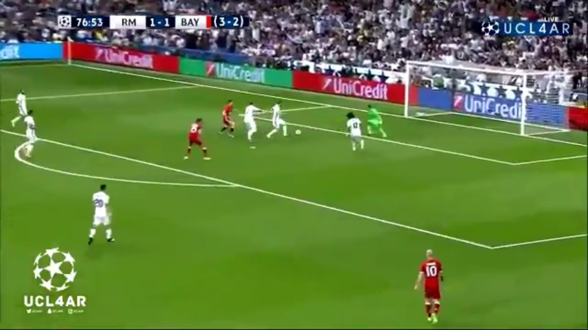 Sergio Ramos marcó en propia puerta el 2-1 del Bayern Munich.