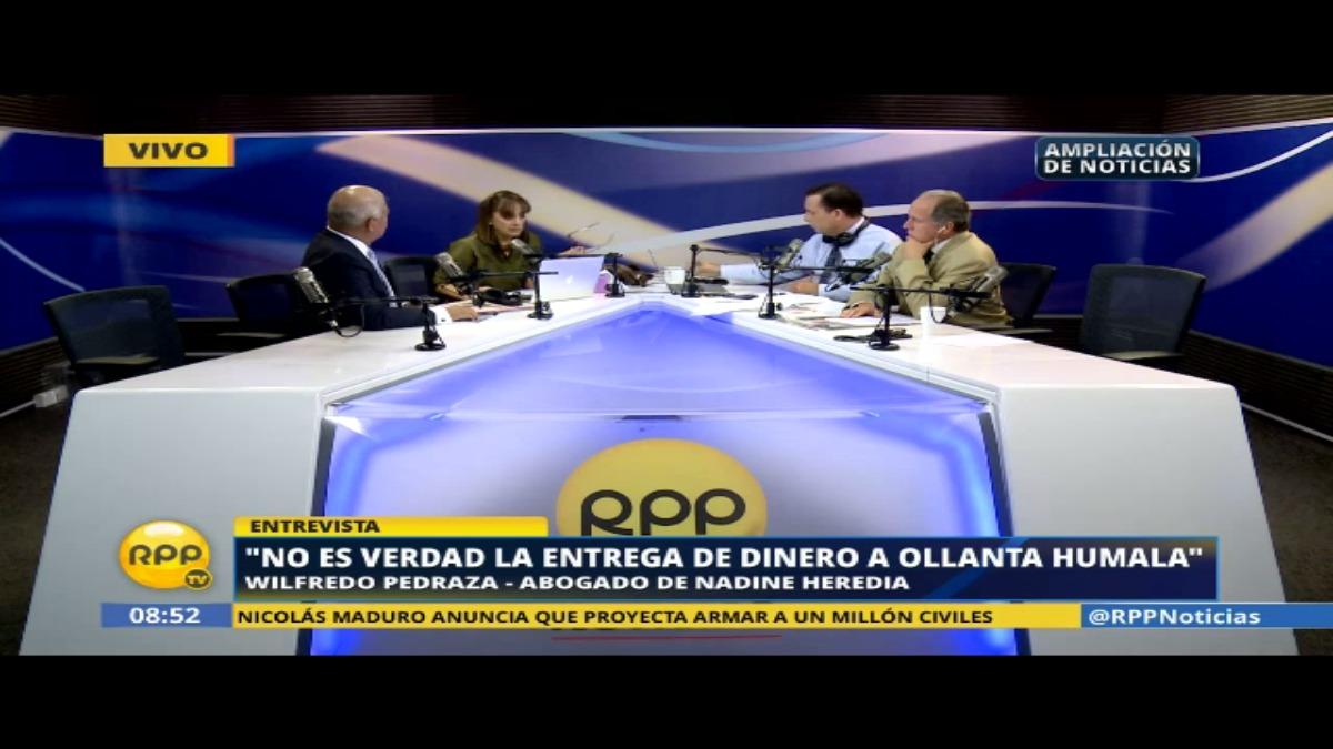Pedraza comentó sobre Belaunde Lossio, Jorge Barata y Marcelo Odebrecht