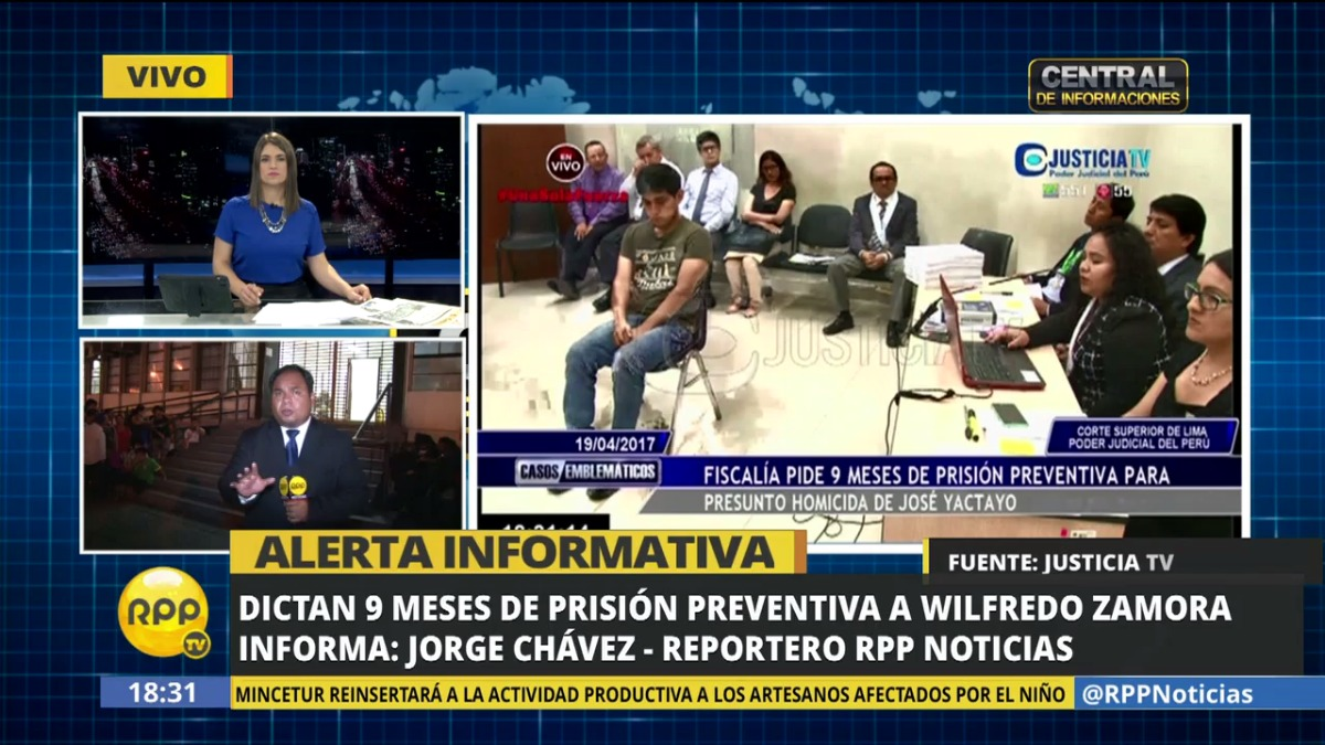 El INPE evaluará a qué penal será enviado Wilfredo Zamora.