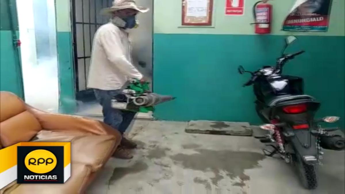 Labores de fumigación se han iniciado en centro urbano de Chiclayo