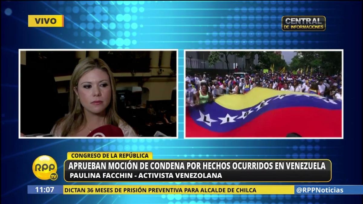 La venezolana le mandó un mensaje al Frente Amplio.