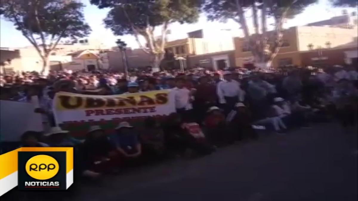 Durante mitin, alcalde provincial no descartó un paro en los próximos días, incluso advirtió un nuevo 'Moqueguazo'-