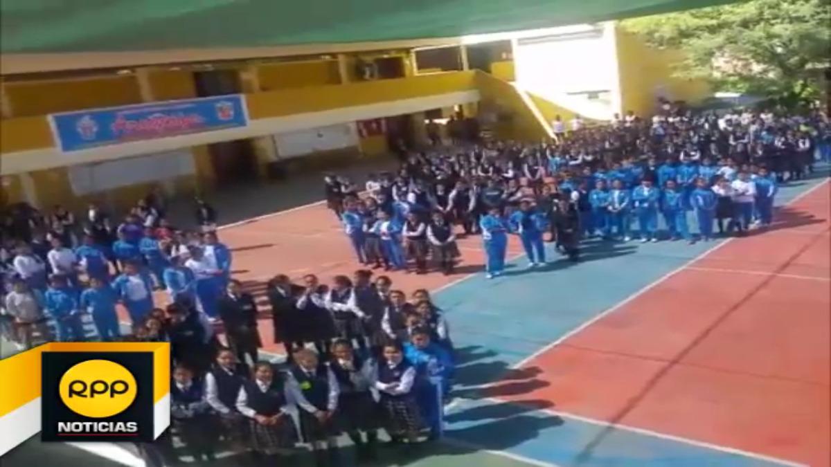 Escolares participaron en primer simulacro del año