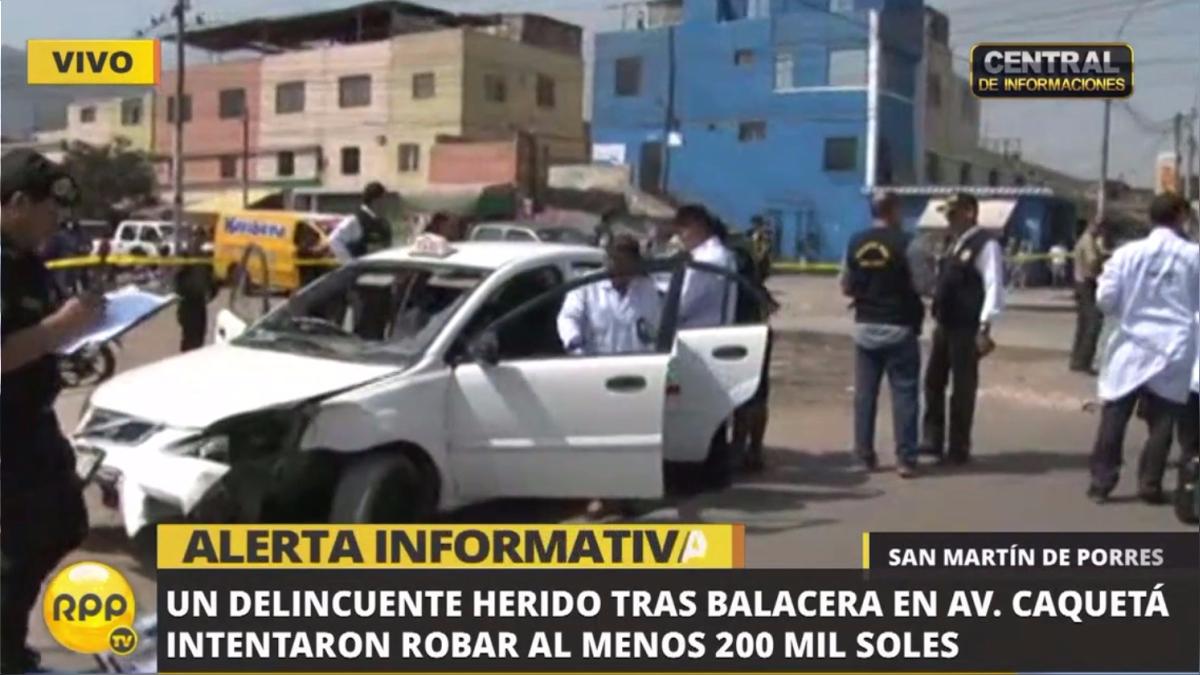 El asalto ocurrió en el centro comercial Unicachi en Martín de Porres