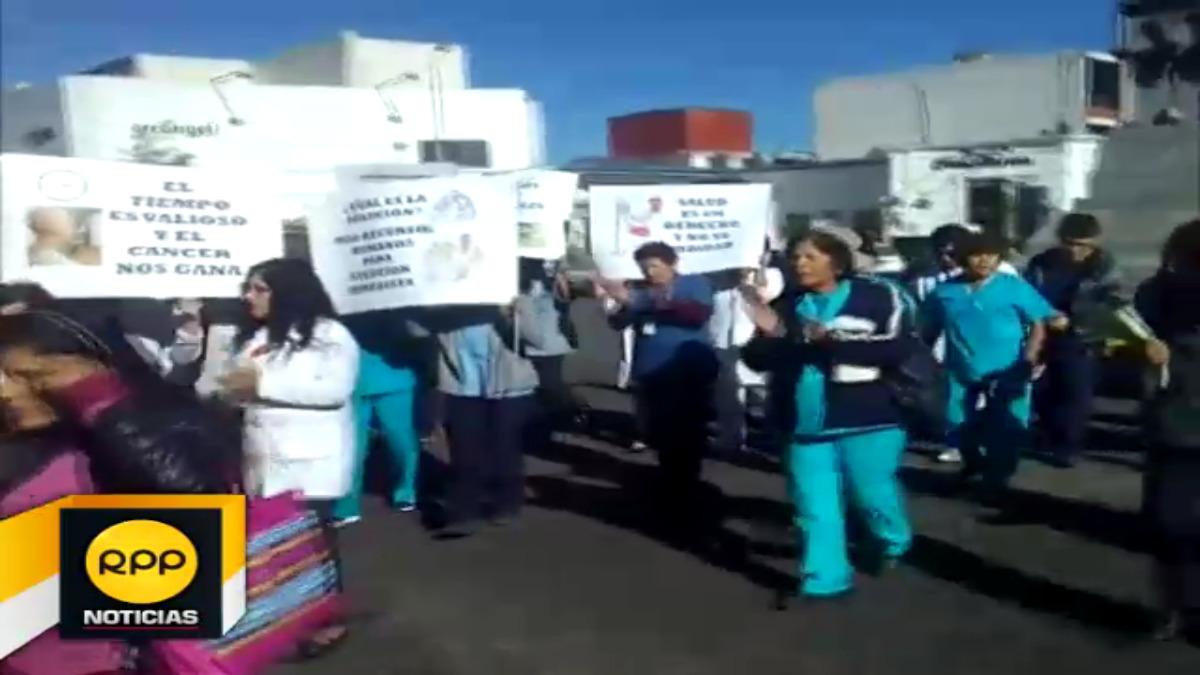 Pacientes realizaron protesta