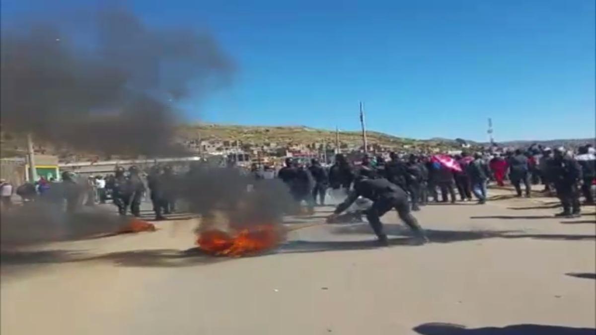Paro de docentes en Puno