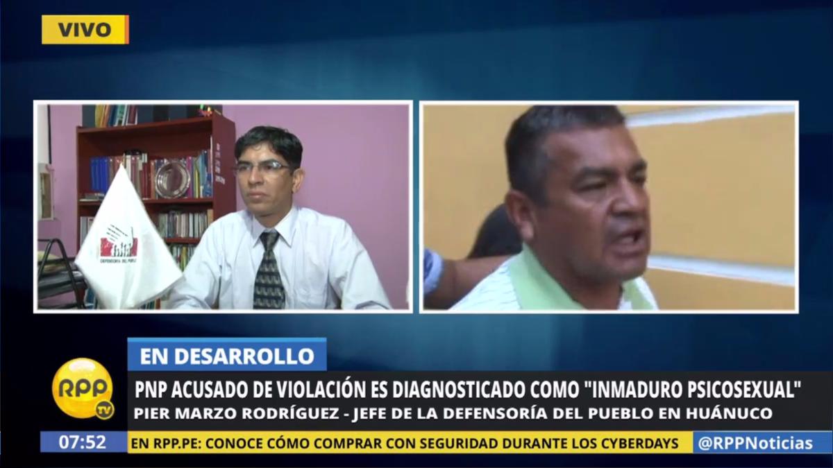 El jefe de la Defensoría del Pueblo en Huánuco dijo que hay otra denuncia de violación sexual contra otro oficial de la PNP.