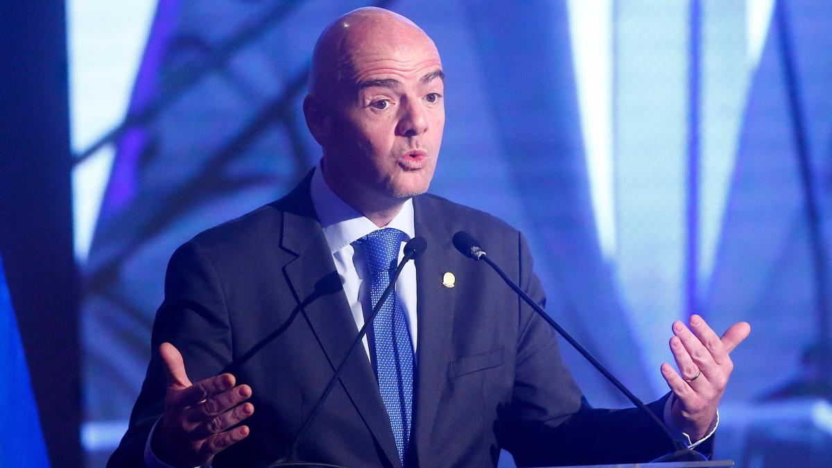 Infantino propuso que la Copa del Mundo de 2026 se juegue con 48 selecciones.