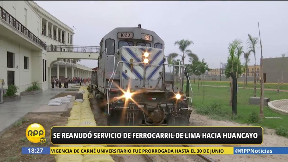 El ferrocarril central reanudó su viaje a pasajeros de Lima a Huancayo.