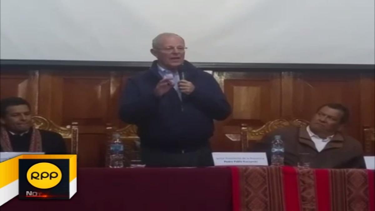 Presidente de la República presentó en Cusco, plan multisectorial de heladas y friaje 2017.