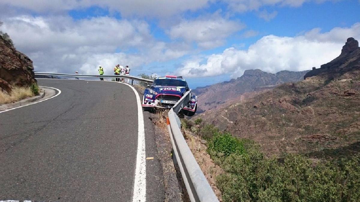 El accidente se produjo en la primera jornada del Rally de Islas Canarias.