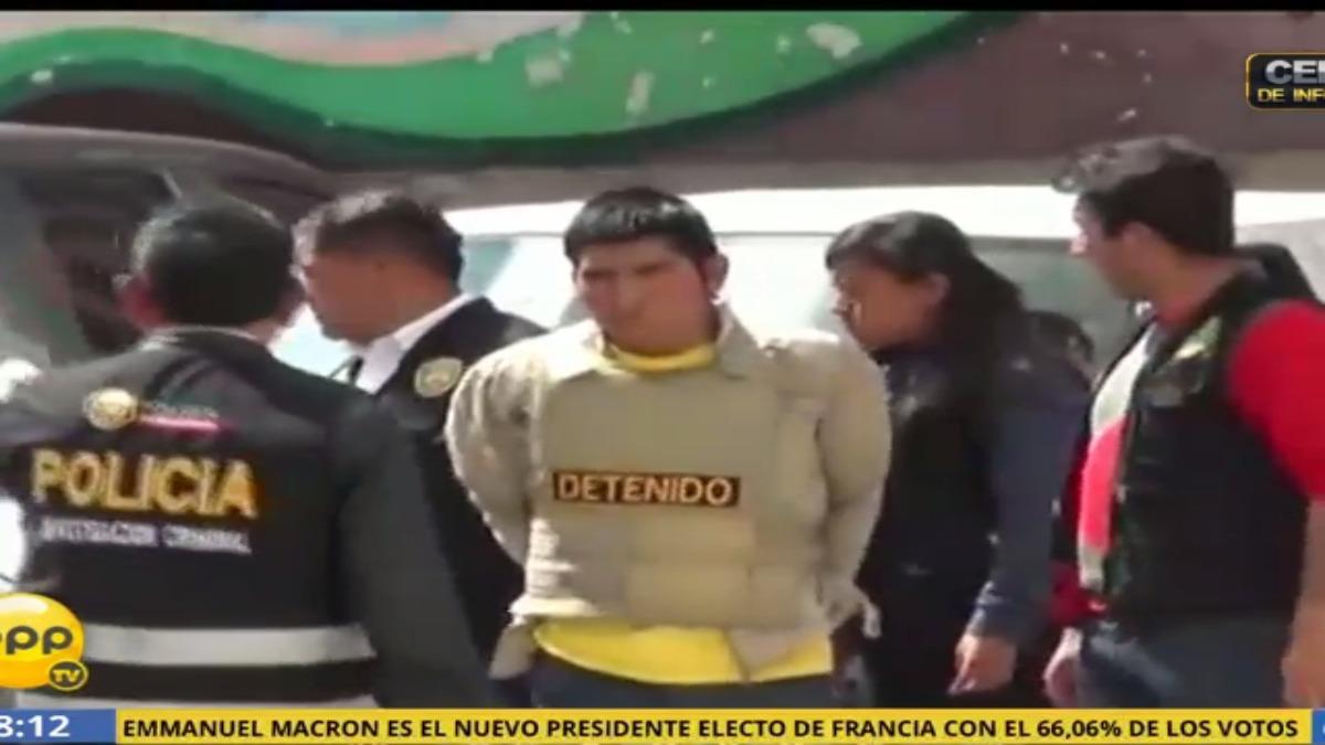 Rossini Eco será trasladado desde la carceleta del Poder Judicial hasta el penal de Quencoro.