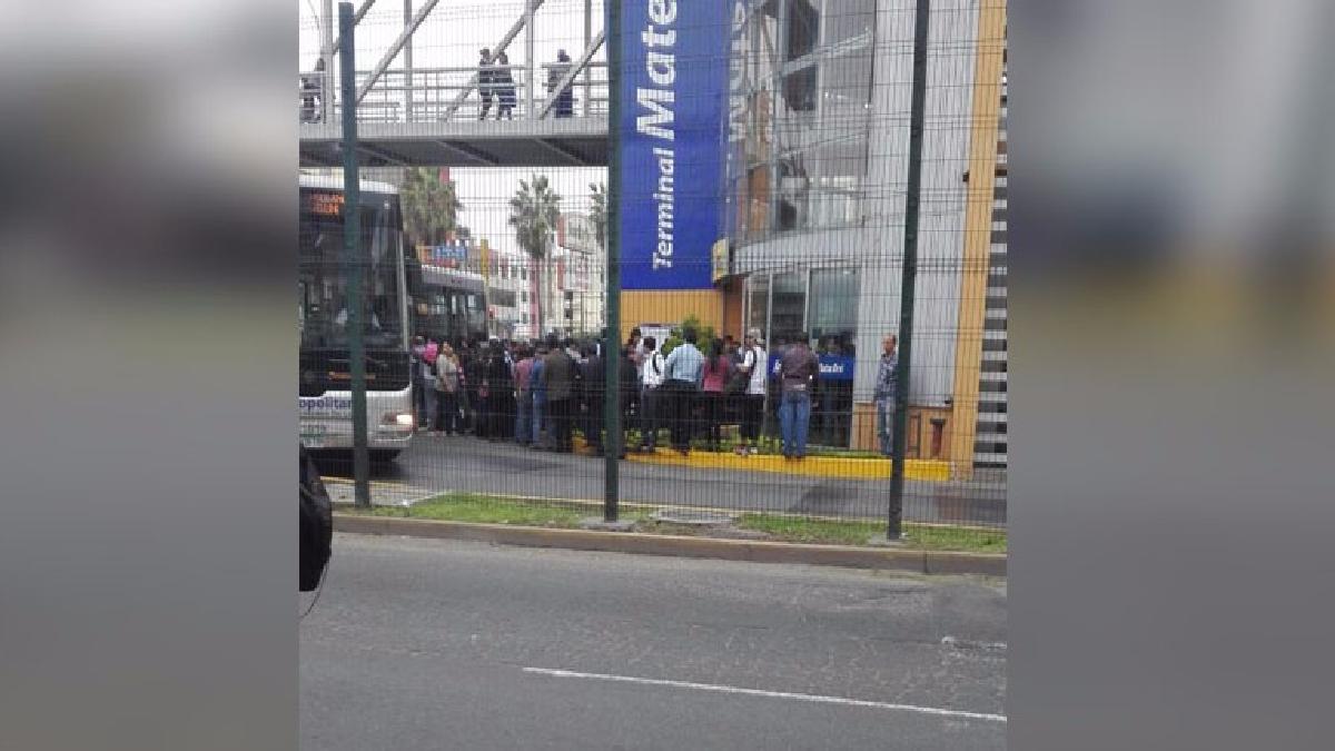 Así se encuentra los exteriores de la estación Matellini en Chorrillos.