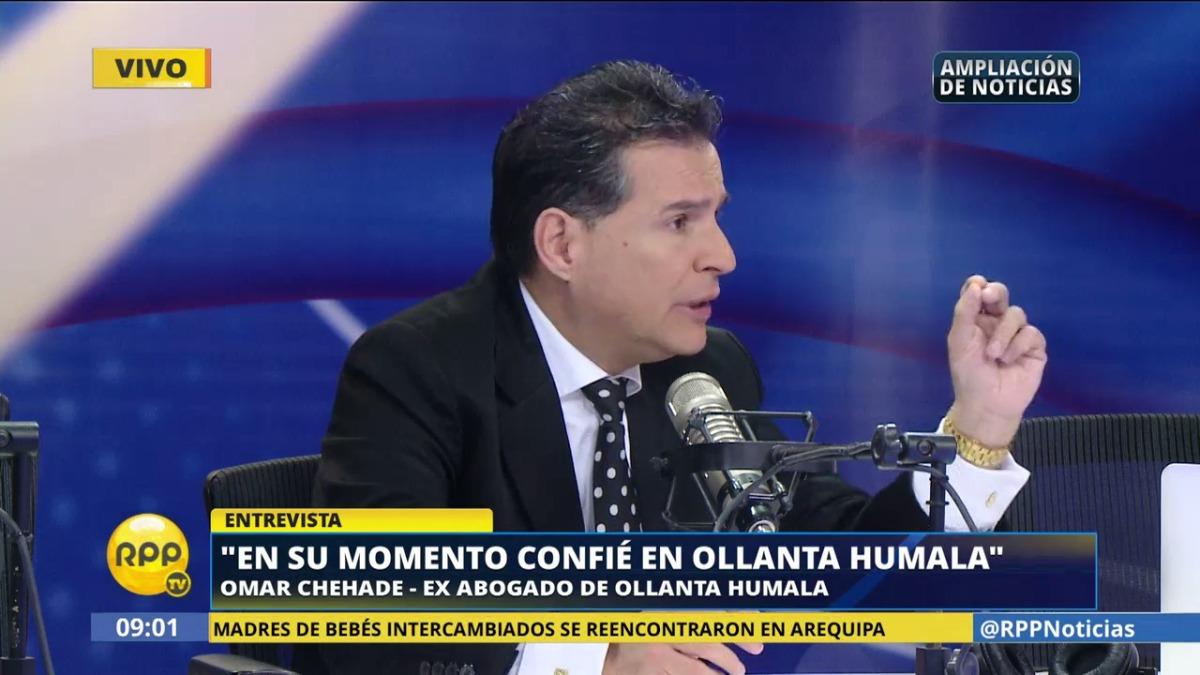 Omar Chehade fue muy cercano a Ollanta Humala, pero se alejó cuando terminaba el gobierno.