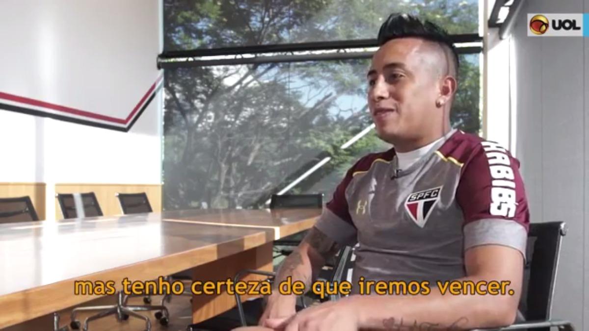 Christian Cueva llegó a Sao Paulo en 2016, procedente del Toluca de México