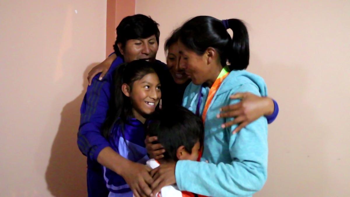 Wilma Arizapana sueña que su hija llegue algún día a los Juegos Olímpicos.