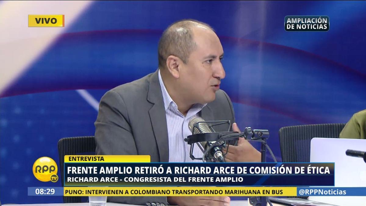 El congresista Richard Arce dijo que parte de la bancada ha pedido reconsiderar la decisión interna de retirarlo de la Comisión.