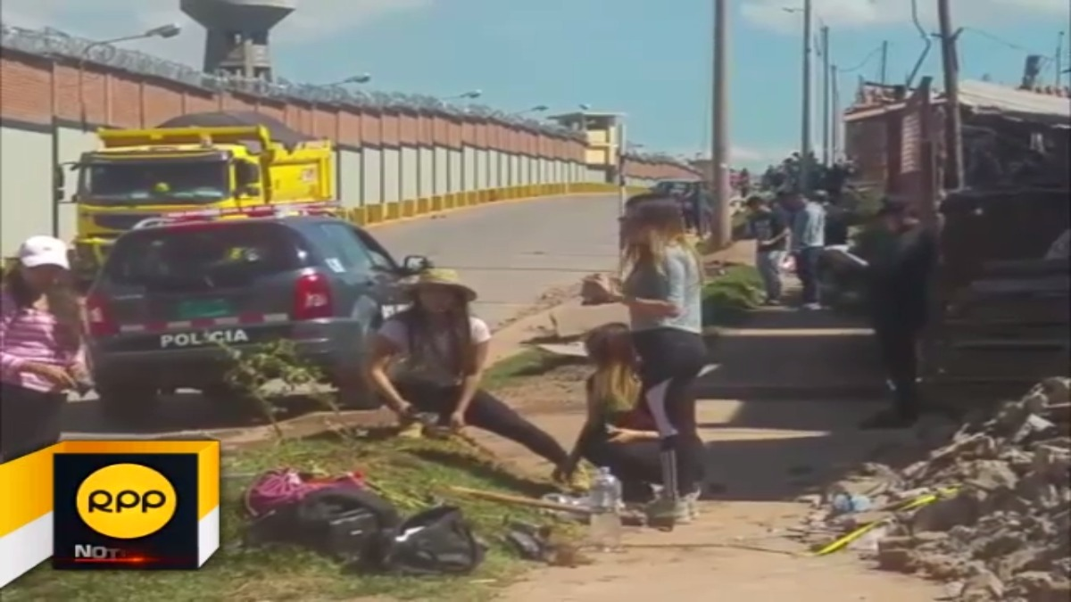 Estudiantes forestaban áreas verdes de la calle Lima, sin embargo sujetos en estado de ebriedad amenazaron con tirarles ladrillos acusándolas de invadir propiedad privada.
