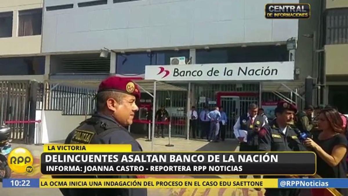 El asalto se produjo al promediar las 9:00 a.m. en la agencia de la avenida Nicolás Arriola.