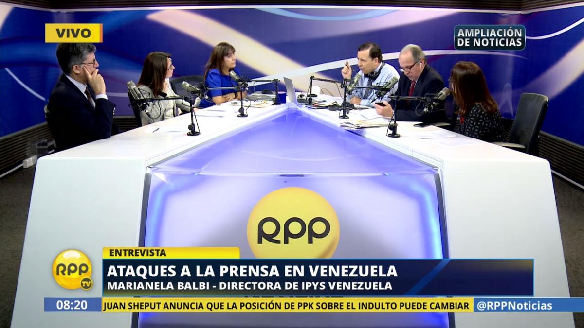 Marianela Balbi, directora de IPYS Venezuela, llamó la atención sobre la situación del país caribeño.