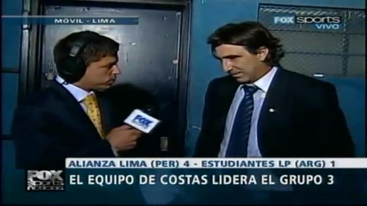 Gustavo Costas dirigió a Alianza en el histórico partido ante Estudiantes en la Copa Libertadores 2010.