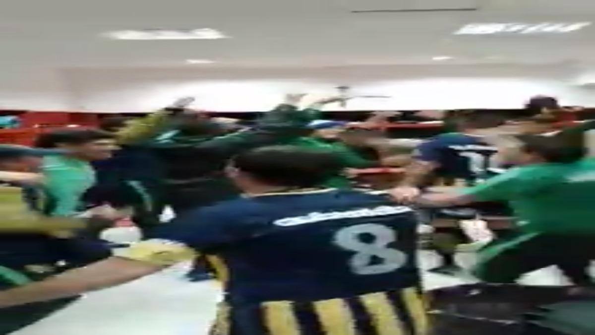 Así celebró el equipo de reserva de Rosario Central tras ganar el Clásico a Newell's.