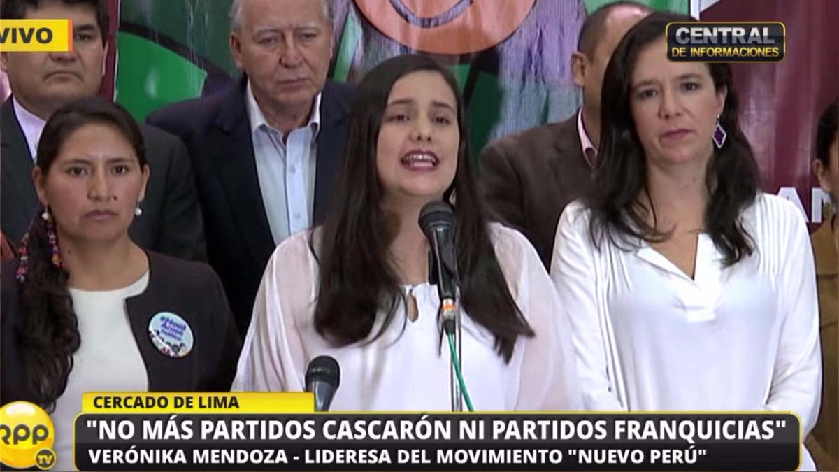 Verónika Mendoza, lideressa del movimiento Nuevo Perú, pidió que el debate de la reforma electoral sea abierto y participativo.