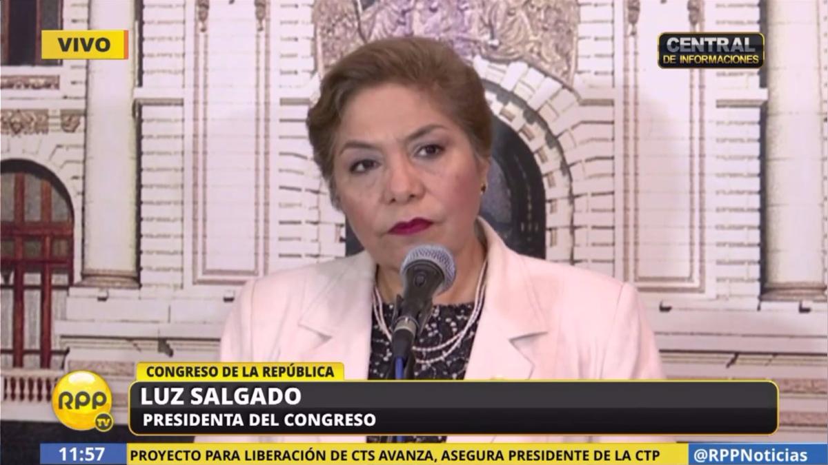 Luz Salgado se pronunció sobre la interpelación de Vizcarra.