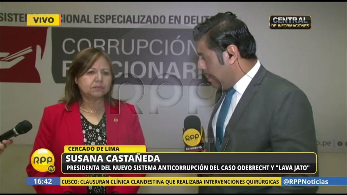Castañeda aseguró que no existen disputas entre el Sistema Anticorrupción y la Sala Penal Nacional.