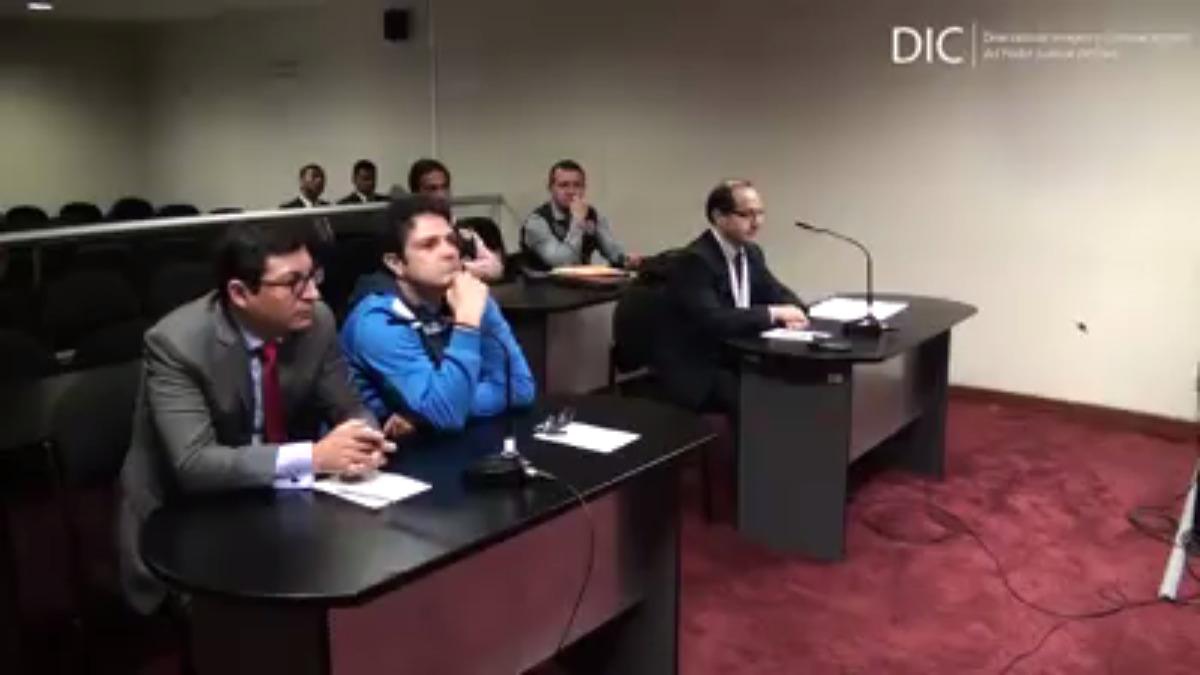 La audiencia de control de identidad del detenido José Francisco Zaragoza, cuyo estudio fue allanado en San Isidro.