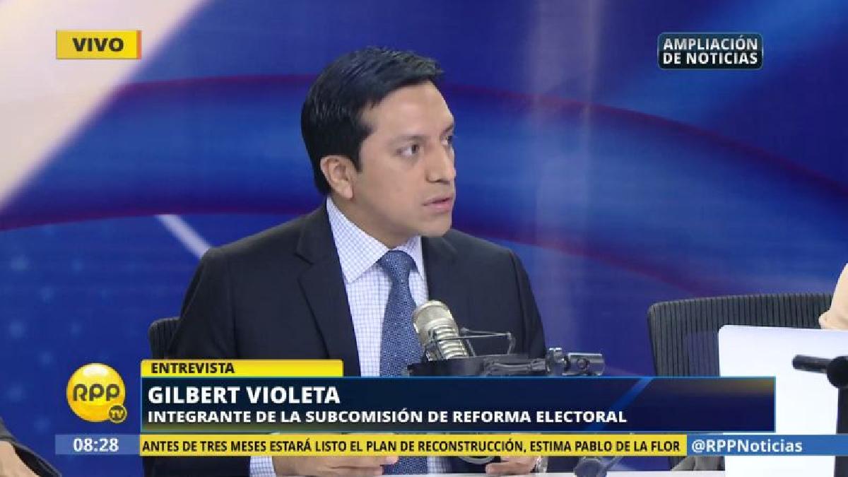 Gilbert Violeta dijo que tiene una posición contraria al indulto desde hace tiempo.
