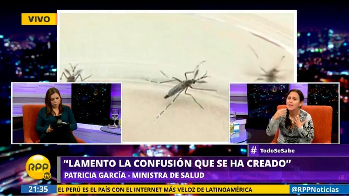 La ministra explicó que hubo una confusión de términos y que como médico tiene pleno conocimiento de la epidemia actual del dengue.