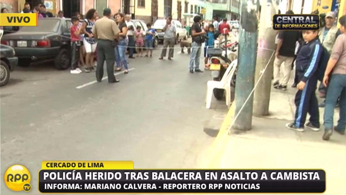 La balacera ocurrió en el Cercado de Lima.