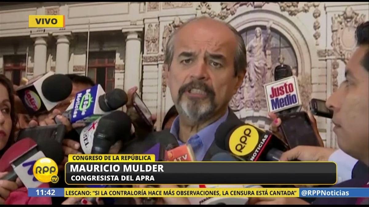 Mauricio Mulder, congresitas del Apra, negó un supuesto apoyo de Odebrecht a la campaña aprista del 2011. Dijo que esta supuesta confesión de Marcelo Odebrecht en un