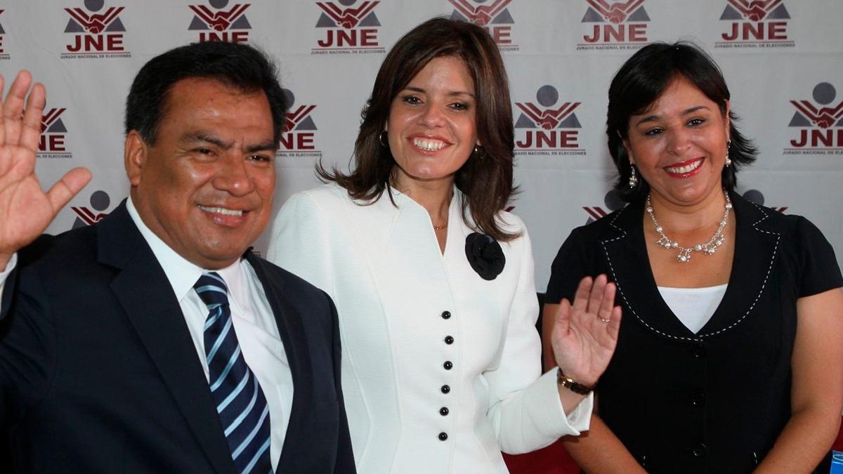 Mercedes Aráoz durante su época como candidata a la presidencia por el Partido Aprista.