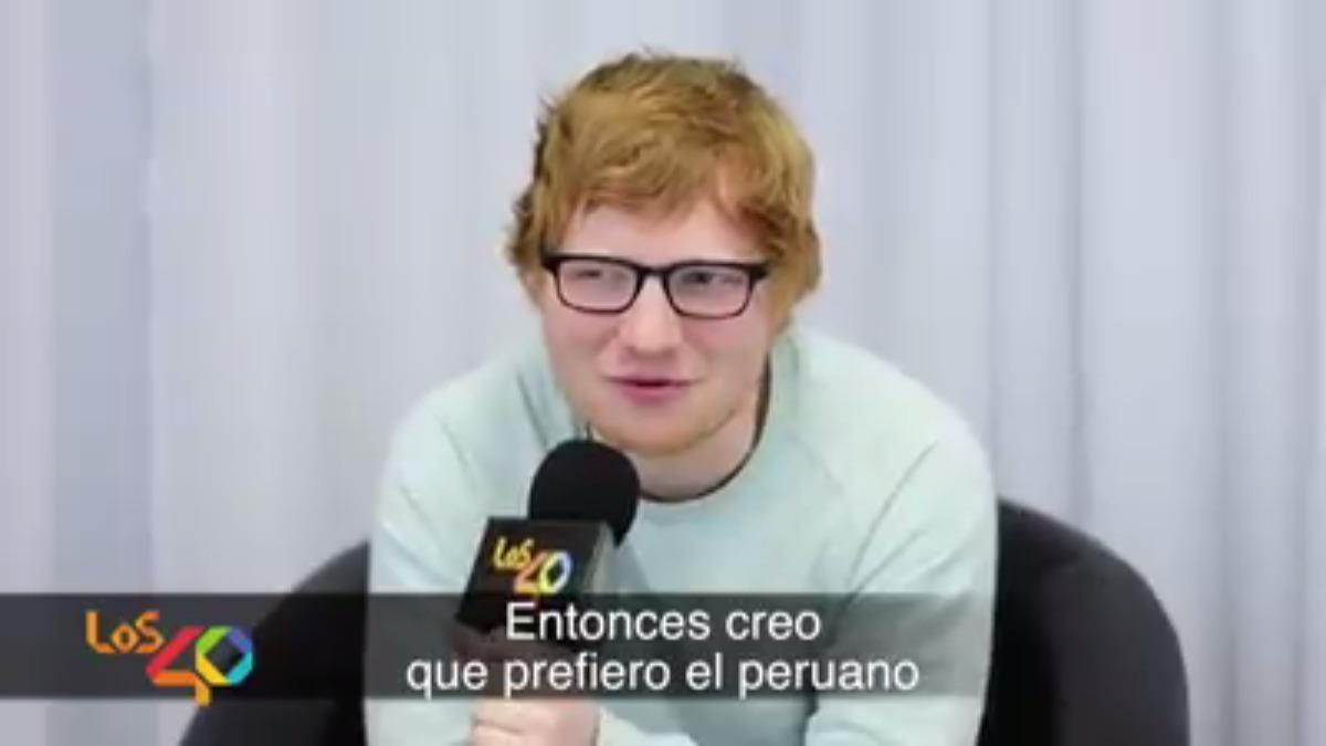 Ed Sheeran brindó una entrevista al programa 'Los 40'.