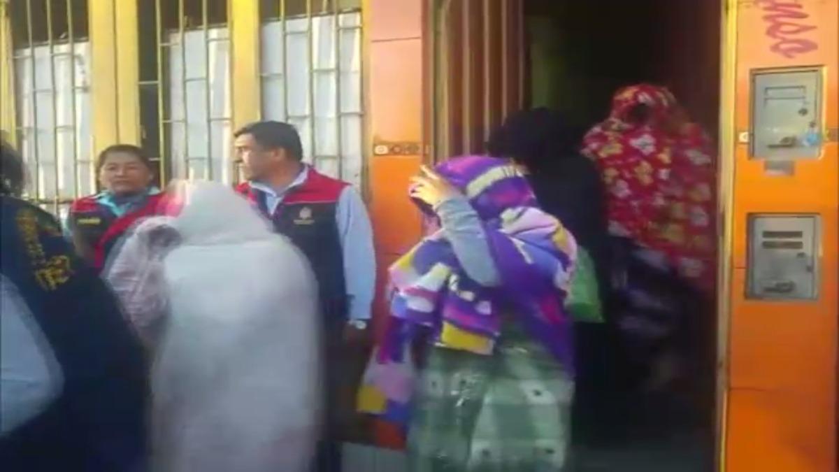 Detención de jóvenes mujeres que ejercían la prostitución en un hostal de Arequipa.