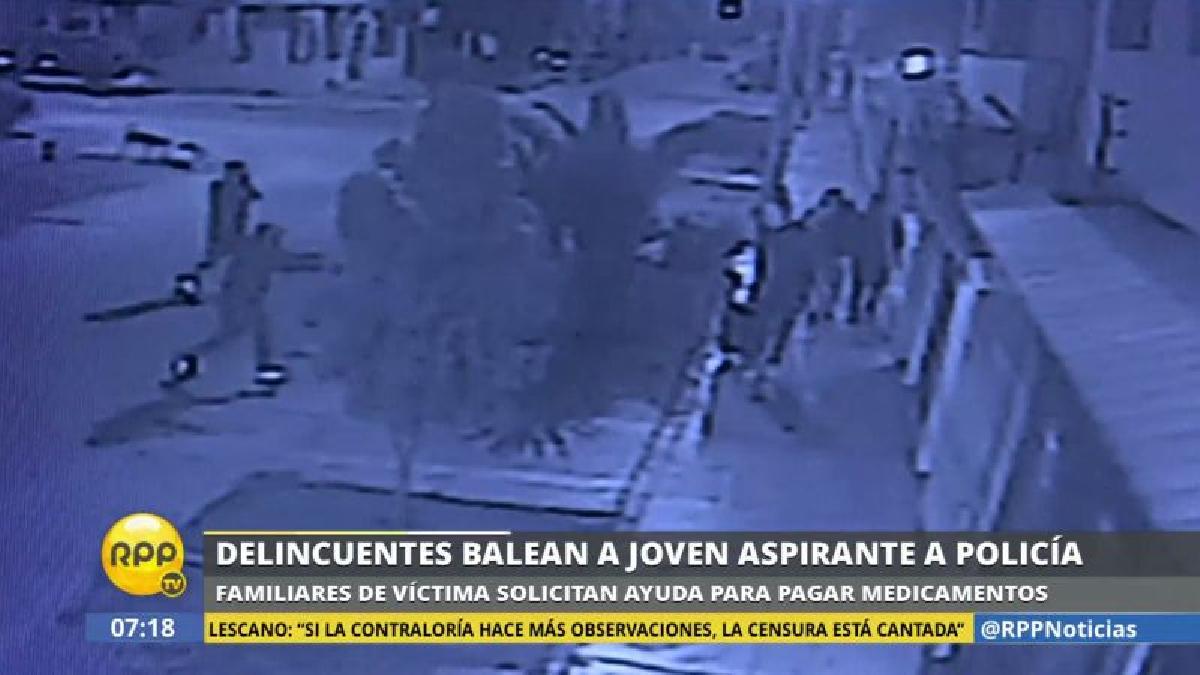 Dos delincuentes atacaron a Moisés Espinoza y, luego, huyeron en un mototaxi.