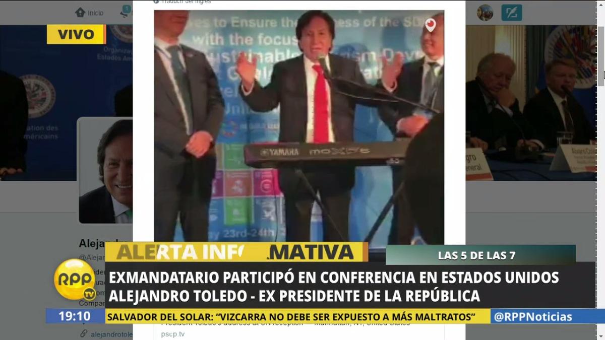 Entrevista exclusiva al expresidente Alejandro Toledo.