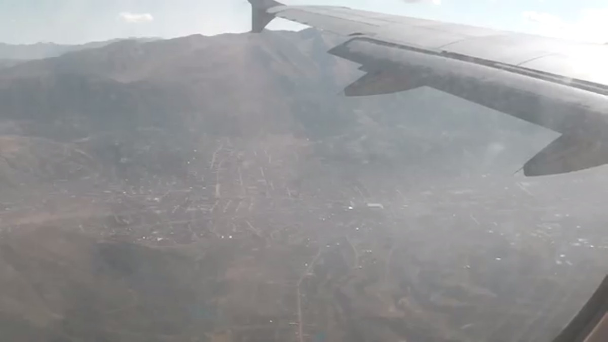Así es el aterrizaje en el aeropuerto Velasco Astete.