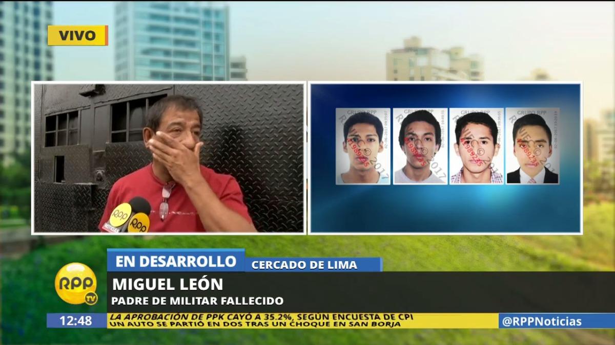 El padre del soldado Miguel Ángel León Lamas afirmó que su hijo
