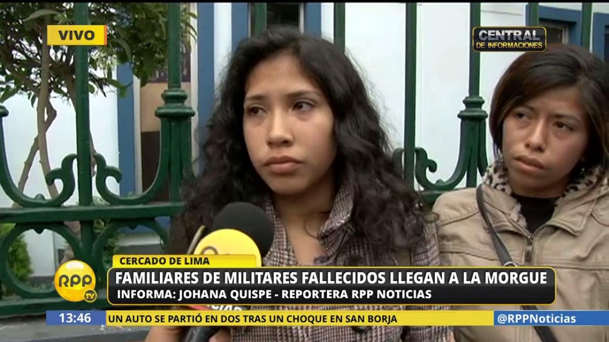 Carmen Lamas dijo que su primo, el soldado Miguel León Lamas, se estaba recuperando de una fractura y no sabía nadar. Por ello, considera poco creíble que su primo se haya aproximado al mar voluntariamente.