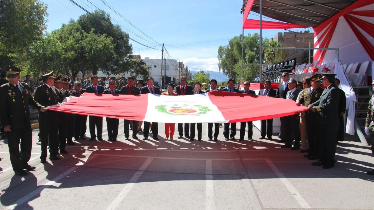 Día de la Bandera en Ayacucho.