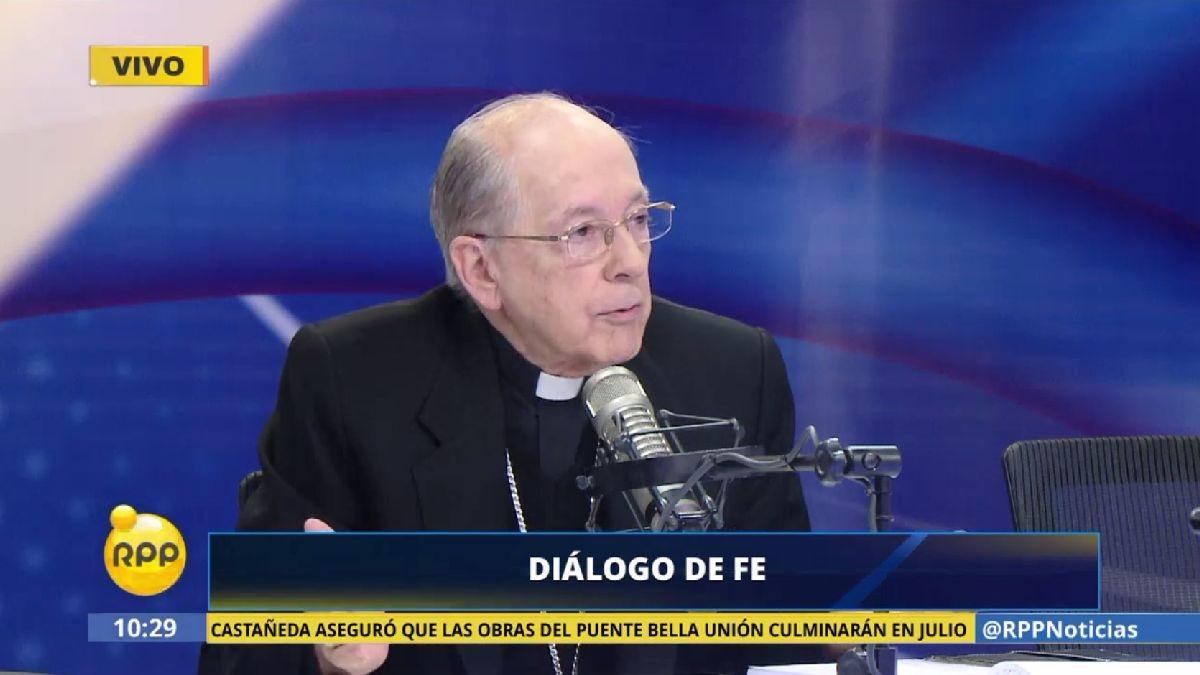 Juan Luis Cipriani habló sobre la polémica de la venta de leche y productos lácteos en el Perú.