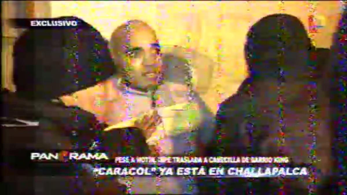 Así llegó 'Caracol' al penal de Challapalca.