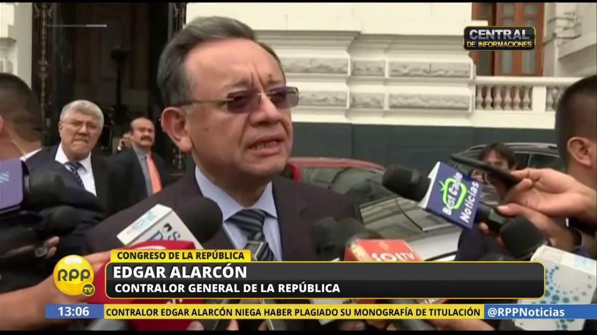 Alarcón también se refirió a los audios de la reunión que mantuvo con el ministro de Economía, Alfredo Thorne:
