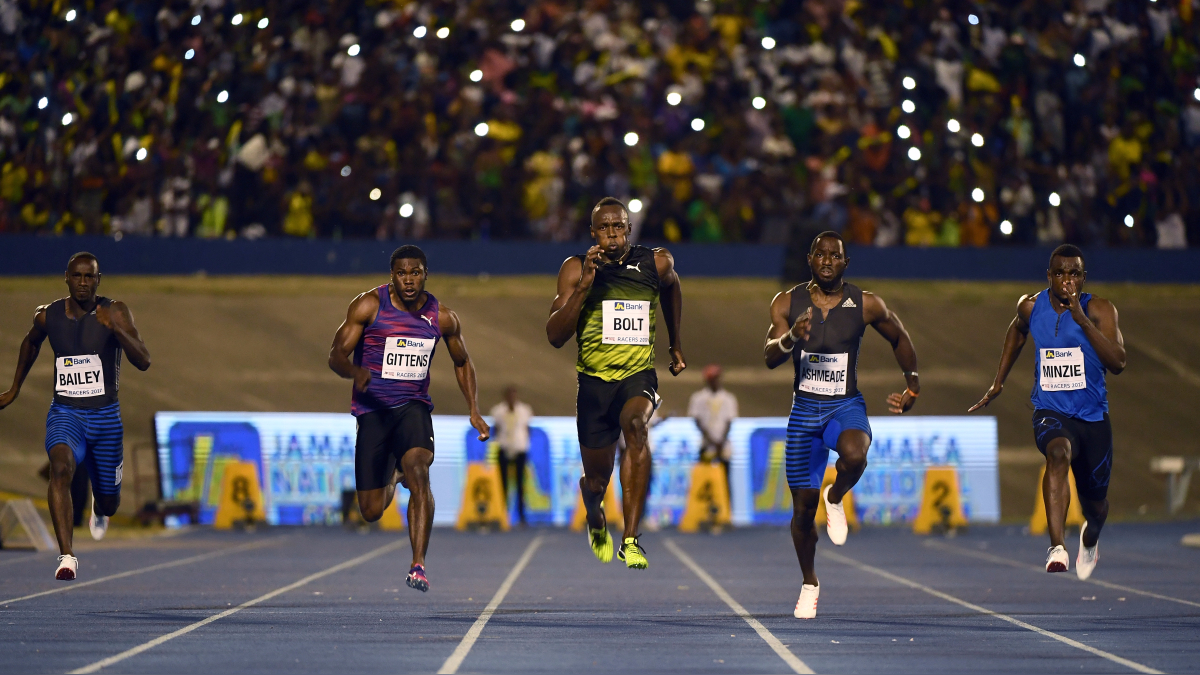 Revive la carrera de Usain Bolt en Jamaica.
