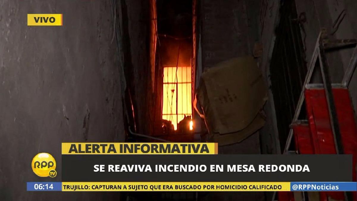 El fuego vuelve a causar una emergencia en el Centro de Lima.