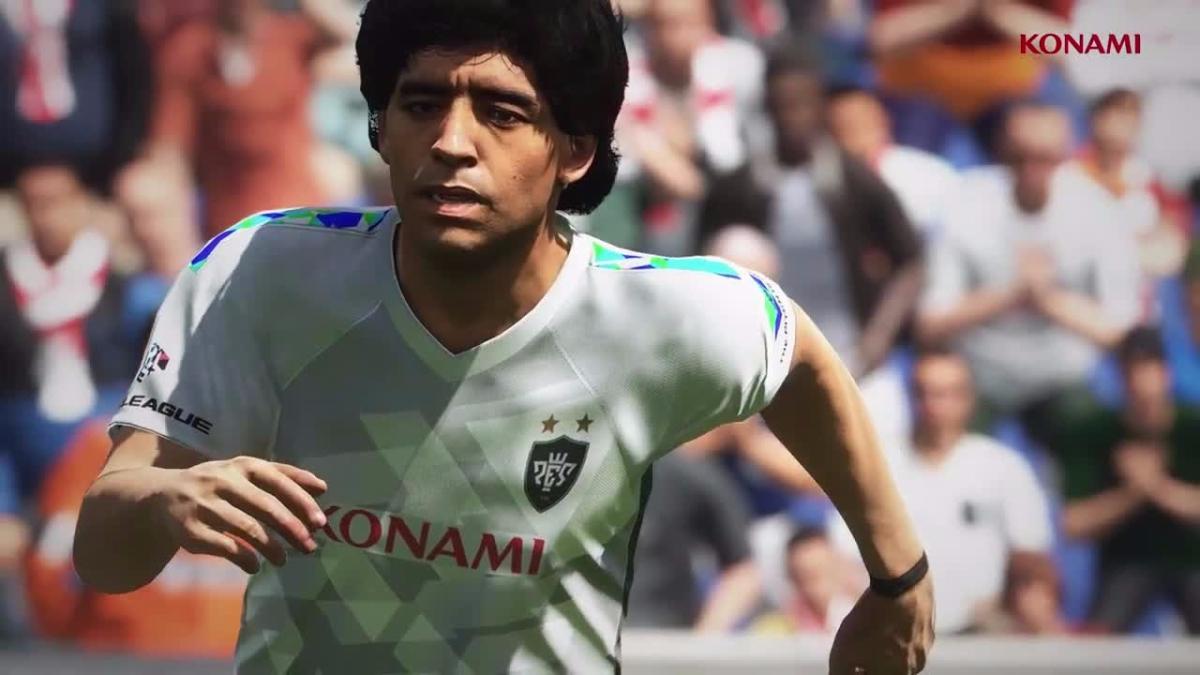 Diego Maradona es el nuevo embajador de Pro Evolution Soccer.